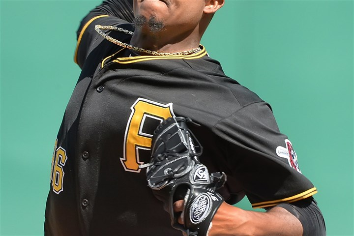Starter Edison Volquez delivers Edison Volquez worked in and out of trouble through seven innings Saturday at PNC Park.