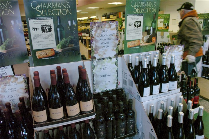 Chairman's Selection wines Chairman's Selection wines are displayed at the state liquor store in Pittsburgh.