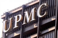 The UPMC logo atop of the U.S. Steel Tower.
