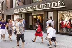 An American Eagle Outfitters store in New York in 2010.