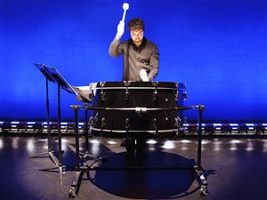 Pittsburgh New Music Ensemble percussionist Ian Rosenbaum is a frequent collaborator with Christopher Cerrone, whose music is featured on the ensemble's season finale at City Theatre.