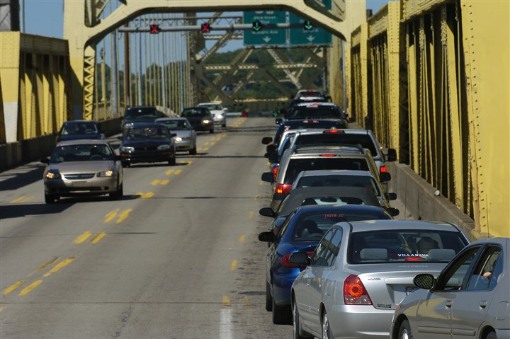West End Bridge In this file photo from 2007, traffic snarls on the West End Bridge.