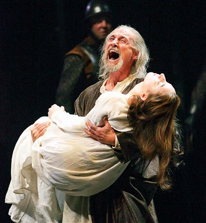 """King Lear"" at the Stratford Festival Lear (Colm Feore) carries the body of Cordelia (Sara Farb) at the climax of ""King Lear"" at the Stratford Festival."