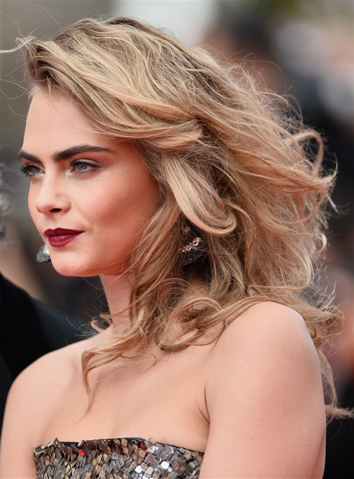 "Cara Delevingne Cara Delevingne attends ""The Search"" premiere during the 67th Annual Cannes Film Festival on May 21."