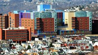 A shot from the Hill District overlooks the Children's Hospital in Lawrenceville. Unlike many other sectors, job cuts at Western Pennsylvania hospitals have continued since the 2008 recession.