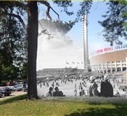 Photo app Timera combines historic and present-day photographs on smartphones. Shown: Helsinki in 1956 and 2014.