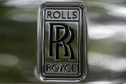 Britain Rolls Royce The emblem on the front of a Rolls- Royce car is seen in a show room in London.