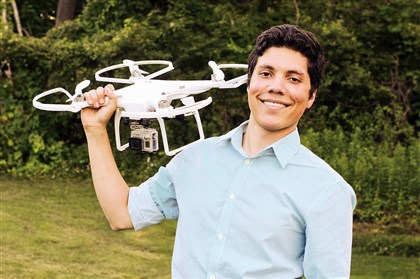 Micah Rosa of the South Side  Micah Rosa, 23, of the South Side with a quadcopter drone. He is one of the founders of the Pittsburgh Drone Masters.