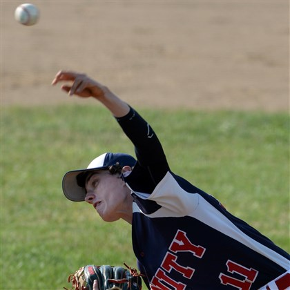 20140702mflegionsports01.jpg Joshua Keefe helped Unity to the top seed in the Westmoreland County American Legion Baseball tournament.