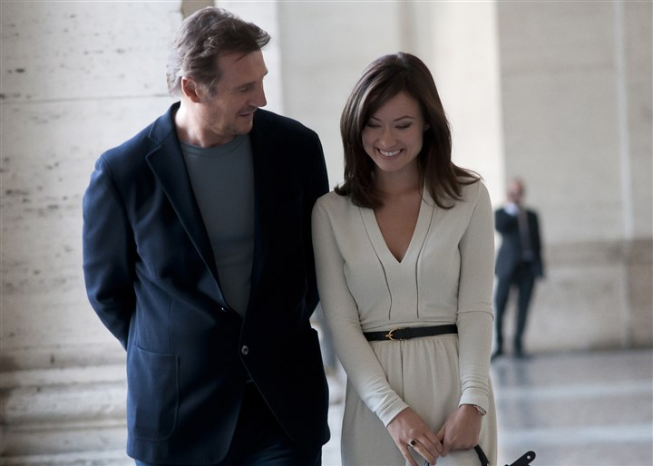 "ThirdPerson Liam Neeson as Michael and Olivia Wilde as Anna in ""Third Person."""