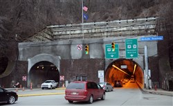 PennDOT closed one lane of the Liberty Tunnel Wednesday, but this time it wasn't for construction.