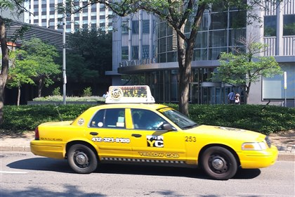 Yellow Cab Liberty Avenue Downtown Pittsburgh A Yellow Cab travels on Liberty Avenue in Downtown Pittsburgh.