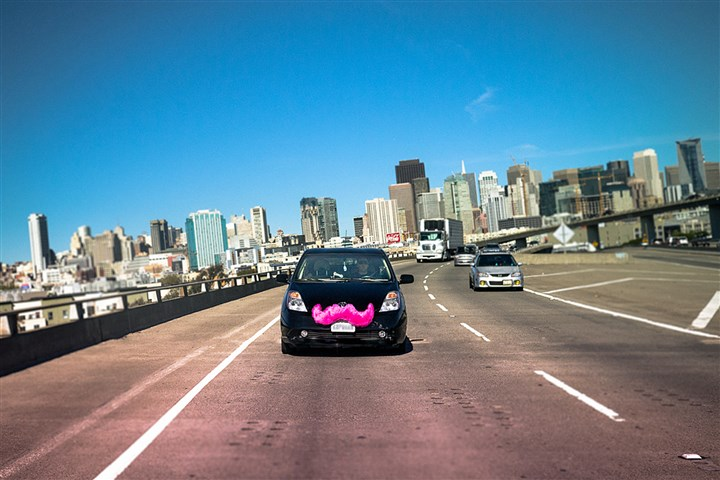 Lyft071314 A Lyft car takes to the road.