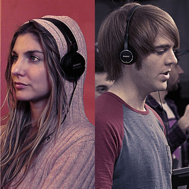 "20140711hdChairMag (1) Anna Martemucci and Shane Dawson are aspiring directors in ""The Chair."""