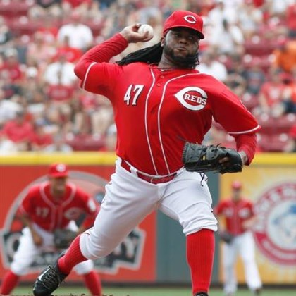 cueto0714 Reds ace Johnny Cueto wasn't as stellar as usual Sunday, but the Pirates still couldn't take full advantage.
