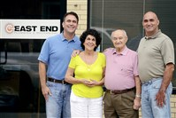 East End Plumbing and Mechanical in Sharpsburg has been a family business for 57 years.  From left to right are Tony Mascilli, his mother, Florinda, his father, Arturo, and brother Art Jr.