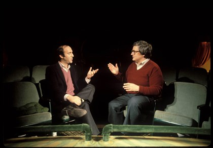 "lifeitself01 Gene Siskel and Roger Ebert in "" Life Itself."""
