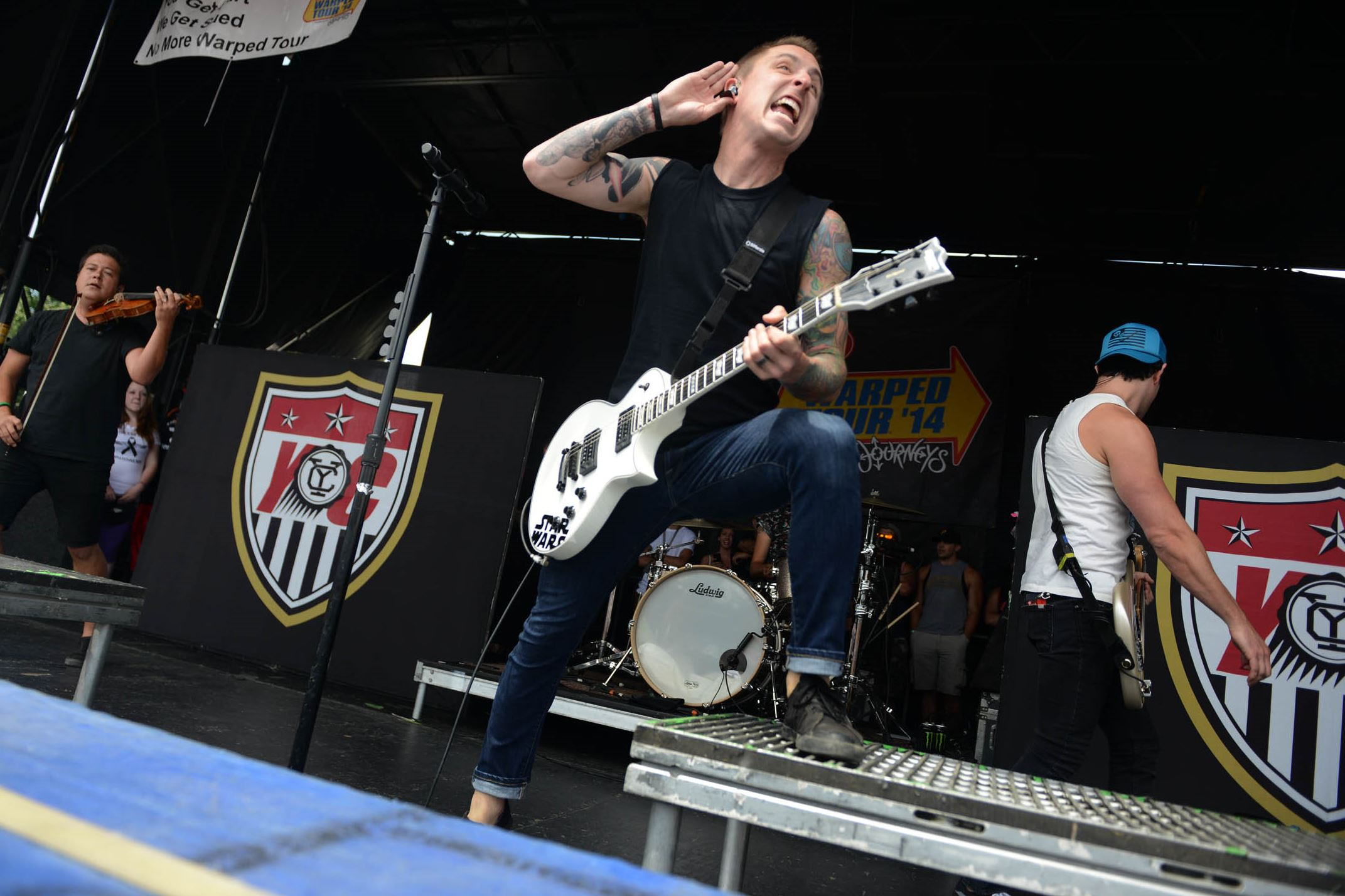 Lead singer Ryan Key performs with Yellowcard at the Vans Warped Tour at First Niagara Pavilion Tuesday.