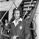 Former U.S. Olympic team member Alice Coachman became the first black woman to win an Olympic gold medal with her win in the high jump in the 1948 Olympics in London.