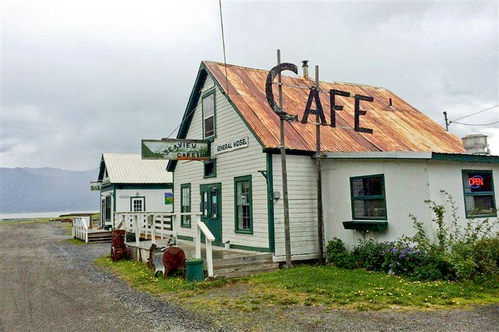 The Seaview Cafe in Hope The Seaview Cafe in Hope greets visitors on the Cook Inlet.