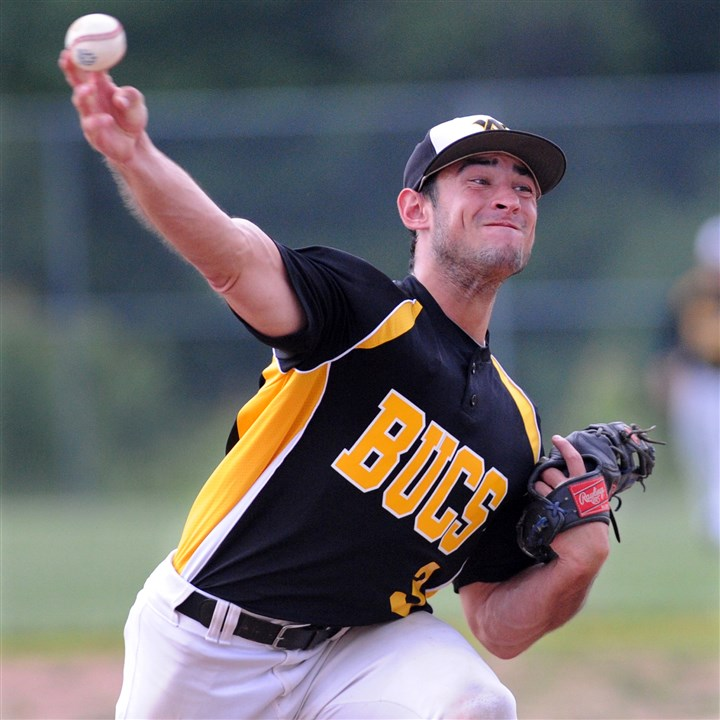 20140616JHZsportsFedBB04.jpg Upper St. Clair graduate Mike Pezzone has been a welcome addition to the Allegheny Valley lineup.