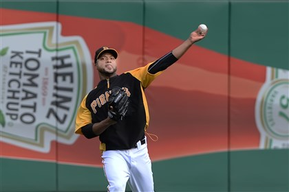 20140717pdPiratesSports05-6 Peter Diana/Post-Gazette 7/17/14 PITTSBURGH: Pittsburgh Pirates Francisco Liriano long tosses during workouts after the All-Star break and prepare to resume their season Friday.