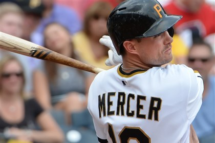 mercer0813 Pirates shortstop Jordy Mercer looked just fine as a No. 3 hitter Tuesday night.