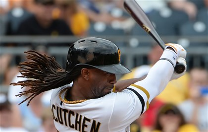 20140720pdPiratesSports02-1 Andrew McCutchen hits an RBI single against the Colorado Rockies.