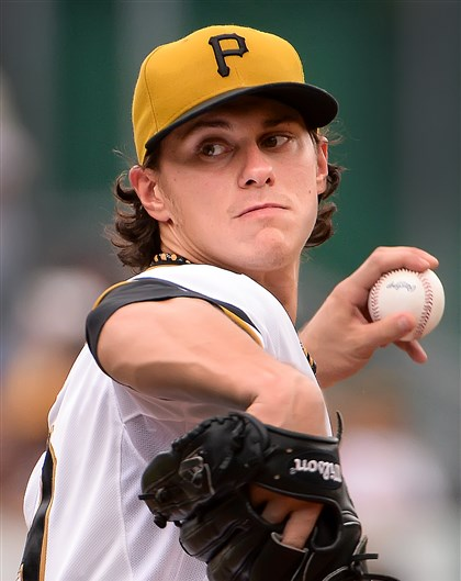 20140720pdPiratesSports06-5 Pirates pitcher Jeff Locke delivers against the Colorado Rockies.