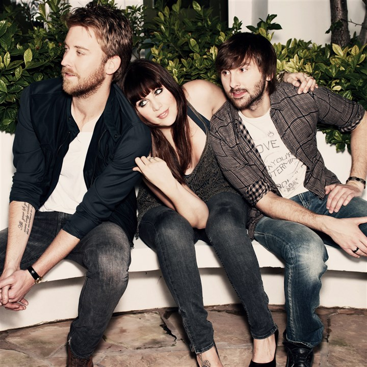 Lady Antebellum Lady Antebellum, from left, Charles Kelley, Hilary Scott and Dave Haywood.
