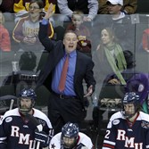 Robert Morris coach Derek Schooley's has been picked to finish atop the Atlantic Conference standings, but is just outside the national rankings entering the season.