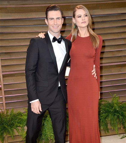 adamLevine2-1  Musician Adam Levine and model Behati Prinsloo tired the knot over the weekend, with actor Jonah Hill officiating.