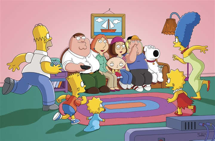 "owen0722 ""The Simpsons"" will cross over into ""The Family Guy"" in September."