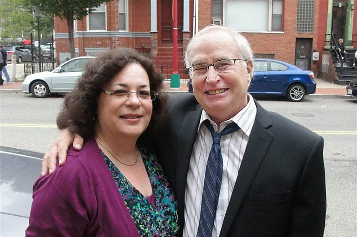 Phil Phil Axelrod with his wife, Post-Gazette theater and online features editor Sharon Eberson.