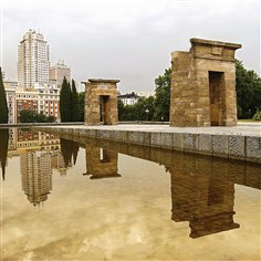ancient Egyptian Temple of Debod  The ancient Egyptian Temple of Debod was built in Madrid's Parque del Oesta and reopened to the public in 1972.