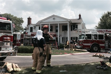 Bethel Park fire Firefighters on the scene of a fire at 7110 Baptist Road in Bethel Park.