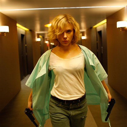 "Lucy1-1 Scarlett Johansson plays the title character in ""Lucy,"" an action-thriller that examines the possibility of what one human could truly do if she unlocked 100 percent of her brain capacity and accessed the furthest reaches of her mind."