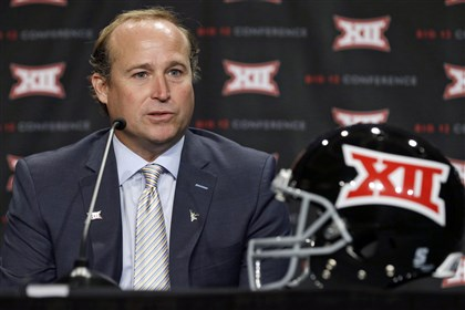 Holgorsen0723 West Virgina head coach Dana Holgorsen answers a question during Big 12 Media Days in Dallas earlier this month.