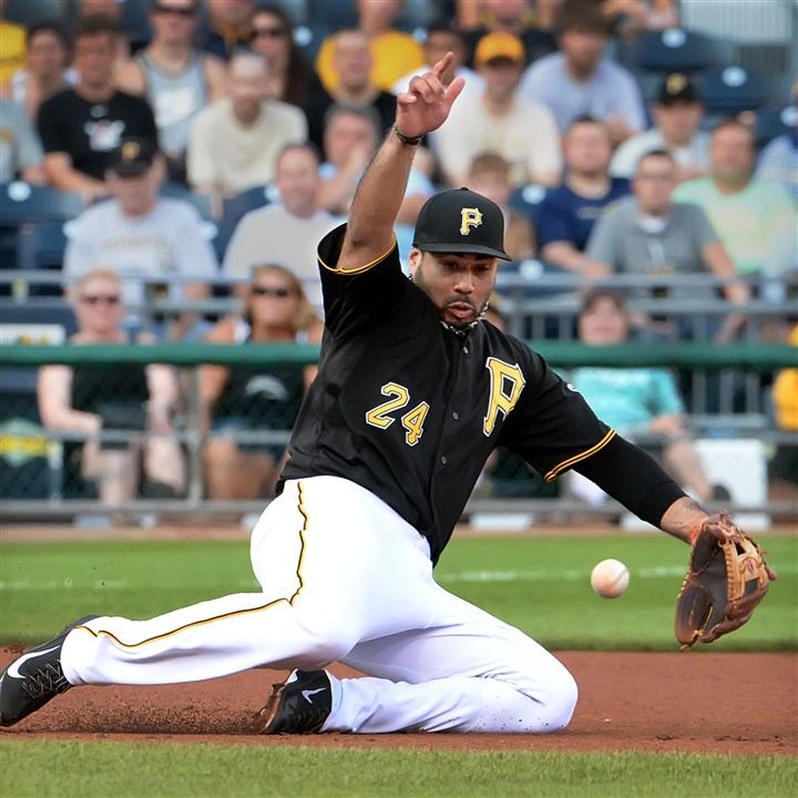 alvarez0804 Pedro Alvarez's throwing woes aren't improving, which puts the Pirates in a bind.