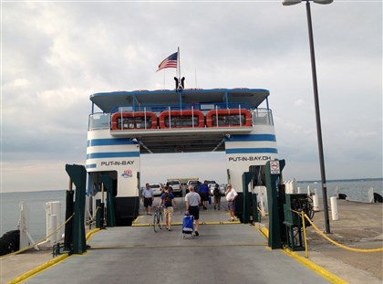 20140723gmPIB02Food-1 Put-in-Bay, a village on Ohio's South Bass Island, is a 20-minute ferry ride from Port Clinton.