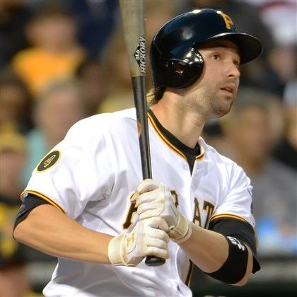 20140723pdPiratesSports06-1 The Pirates' Neil Walker bats against the Dodgers at PNC Park.