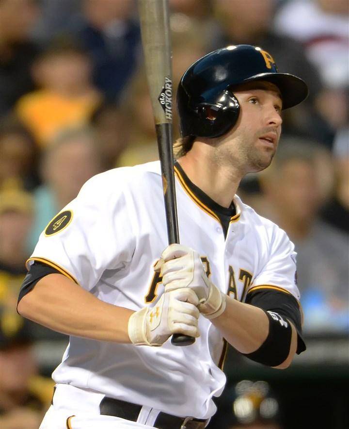20140723pdPiratesSports06-1 Neil Walker did not start Saturday against the Washington Nationals.