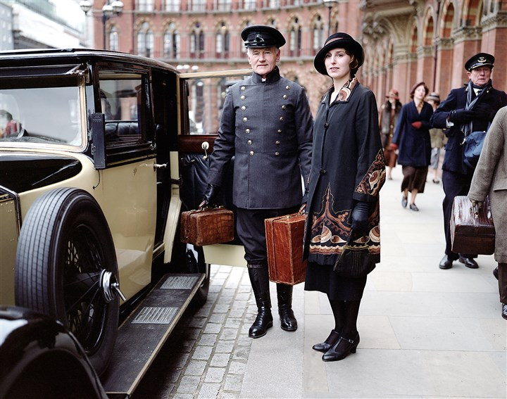 "20140724Downton-2 Laura Carmichael returns as Lady Edith for season five of ""Downton Abbey."""