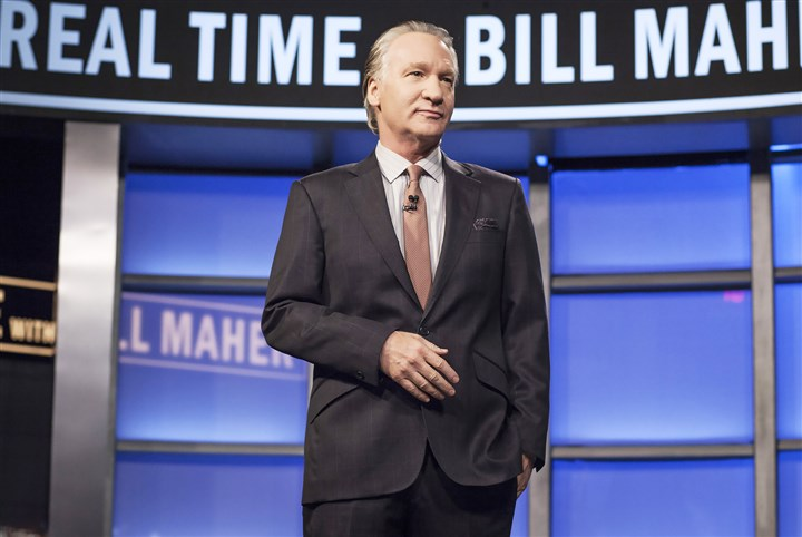 "20140724HOmaher Bill Maher hosting HBO's ""Real Time With Bill Maher."" He will perform at Heinz Hall Saturday night."