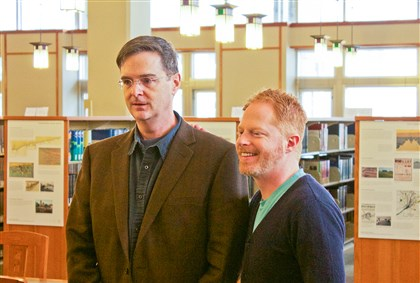 20140724CMUProfMag Carnegie-Mellon University professor Scott Sandage, left, helps 'Modern Family' actor Jesse Tyler Ferguson discovery his family history on TLC's 'Who Do You Think You Are?""