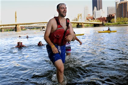 Brian Anderson employees of PwC Pittsburgh Brian Anderson, an employee of PwC Pittsburgh, jumped into the Allegheny River on Friday to raise money for Against Malaria Foundation. This is the seventh year the company took part in the event. It raised about $8,000 this year.