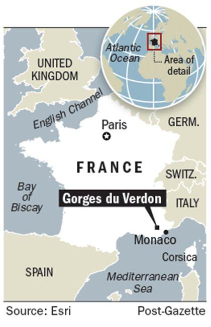 PG locator map: Gorges du Verdon