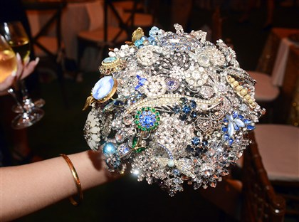 20140726bwNocitoSeen17-16 The bride's jeweled bouquet.