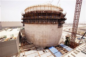 A containment building under construction at Sanmen on China's eastern coast, the site of Westinghouse's first AP1000 reactor. It is now expected to be online by the end of next year.