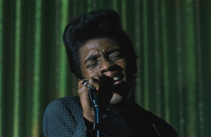 "GetOnUp1 Chadwick Boseman as James Brown in ""Get On Up."""